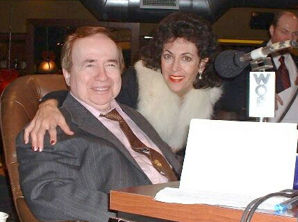 Joe Franklin and Vivian Orgel in radio station